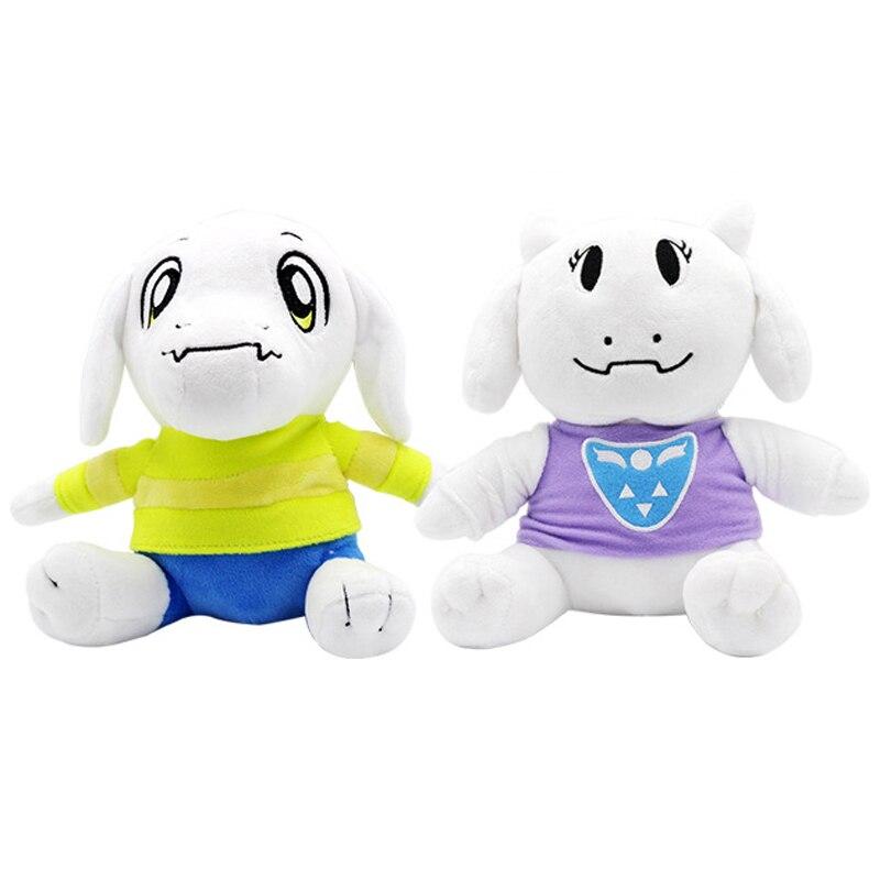 2 pcs/lot 26 cm Undertale Sans Asriel & Toriel peluche jouets doux dessin animé animaux jouet poupée pour enfants enfants cadeaux