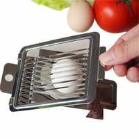 Cortador de huevos multifuncional de Metal, cortador de huevos de rebanada, cortador de huevos de acero inoxidable, cortador de fresas, herramientas de cocina, novedad