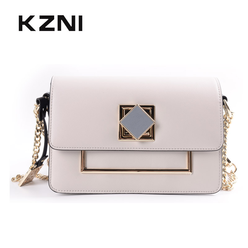 KZNI Genuine Leather Bag Female Bags for Women 2018 Women Leather Handbags Shoulder Bag Female Bolsa Feminina Pochette 9106 цена