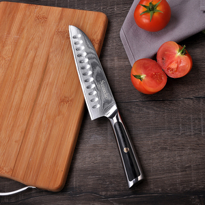 Image 4 - SUNNECKO Damascus Chef Utility Bread Paring Santoku Steak Knife Japanese VG10 Steel G10 Handle Meat Cutting Kitchen Knives Set
