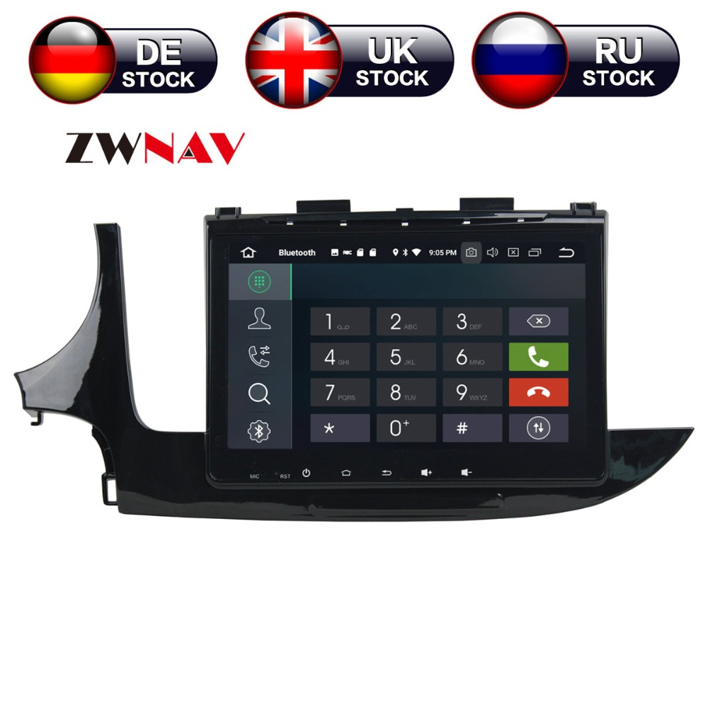 ZWNAV Android 8.0 4 + 32g Auto Lettore DVD di navigazione GPS Per Opel MOKKA 2017 unità di testa multimedia player registratore a nastro