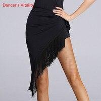 2017New women Latin Dance Tassel Skirt Adult Practise Dance Skirt Dance Fringe Skirt Latin Ballroom Costume