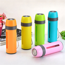 380ML Fashion Double Glass Water Bottle Sports Travel Bottles Cute 3Colors High Quality Protective Layer Portable Water Shaker