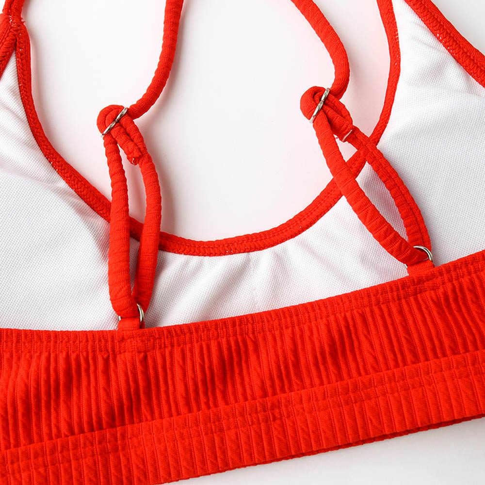 Stringi bikini kobiet 2019 brazylijski stroje kąpielowe kobiet Sexy strój kąpielowy strój kąpielowy na plaży nosić strój kąpielowy dla kobiet strój kąpielowy czerwony biały żółty