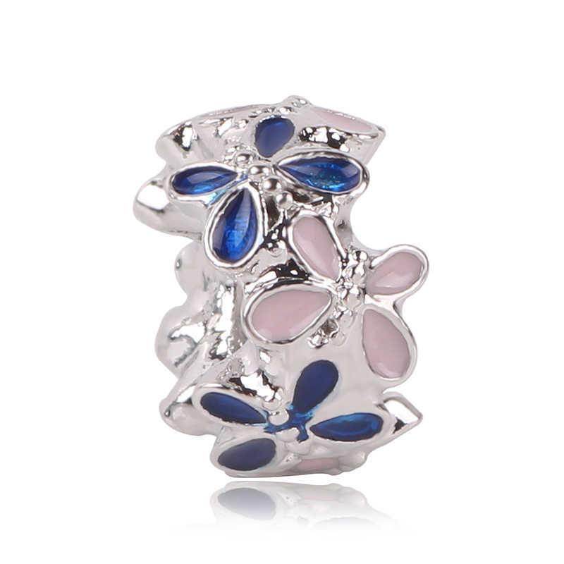Ajuste Pandora Charms plata 925 Original Bisuteria mariposa estrella Luna Voor Sieraden DIY joyería hacer pulsera de mujer Bamoer