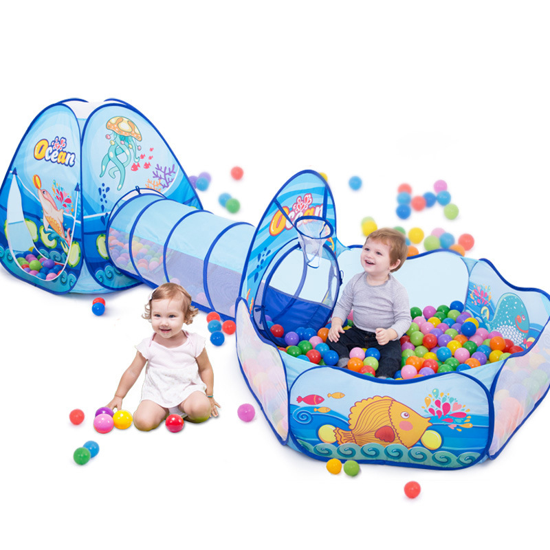 Toys Tunnel Tent Ocean Series Cartoon Game Big Space Ball Pits Portable Pool Foldable Children Outdoor