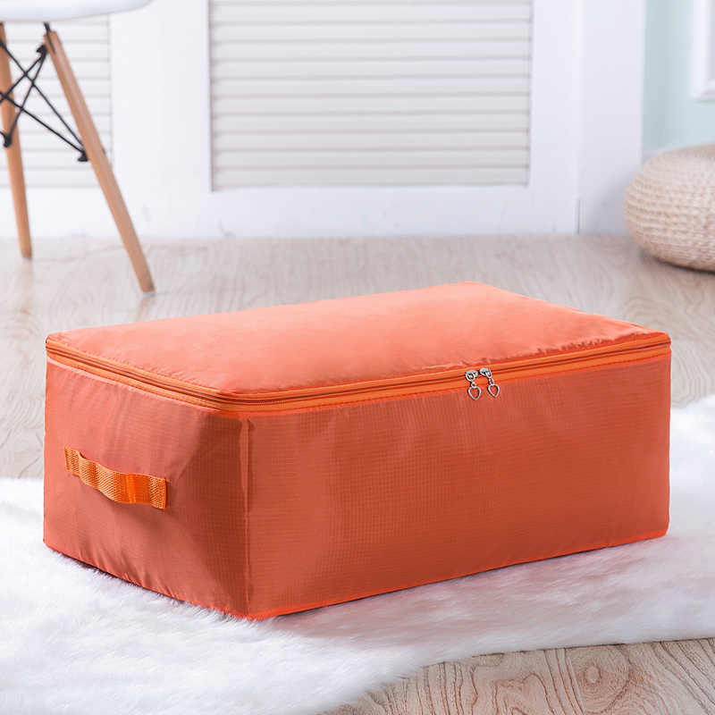 New 1Pcs Home Cloth Quilt Storage Bag High Capacity Oxford Clothing Organizer Container Case Folding Closet Tidy Case M L XL XXL