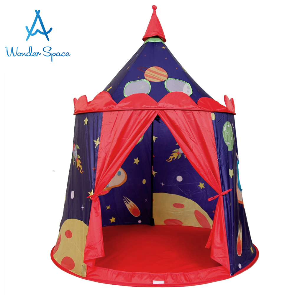 sale retailer ca18a b49d1 US $54.99 |Large Children Playhouse Space Kids Foldable Pop Up Play Tent  Play House Best Indoor Outdoor Toy Boys Girls Baby Toddler Gift-in Toy  Tents ...
