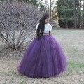 Todas As Cores Longas Saias Das Mulheres Vestidos de Baile de Tule Com Zíper Cintura Princesa Saia Longa Plus Size Maxi Moda Saia Frete Grátis