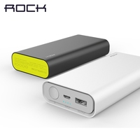 Two Way Quick Charger 2 0 Power Bank 10000 Mah ROCK 18650 QC 2 0 Powerbank