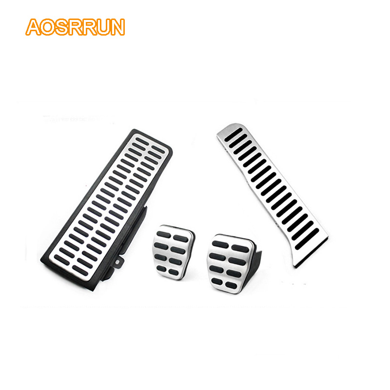 AOSRRUN Stainless steel Accelerator pedal Brake pedal Rest
