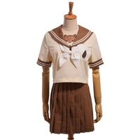 Cute Girls Lolita Japanese Hamster JK School Uniform Suit Tops Pleated Skirt Outfit Sailor Collar Blouse