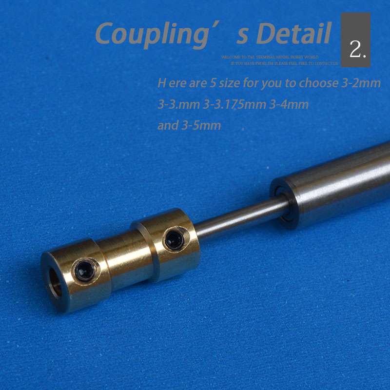 Boat 3mm ship shaft stainless steel boat shaft drive shaft for Add electric motor to drive shaft