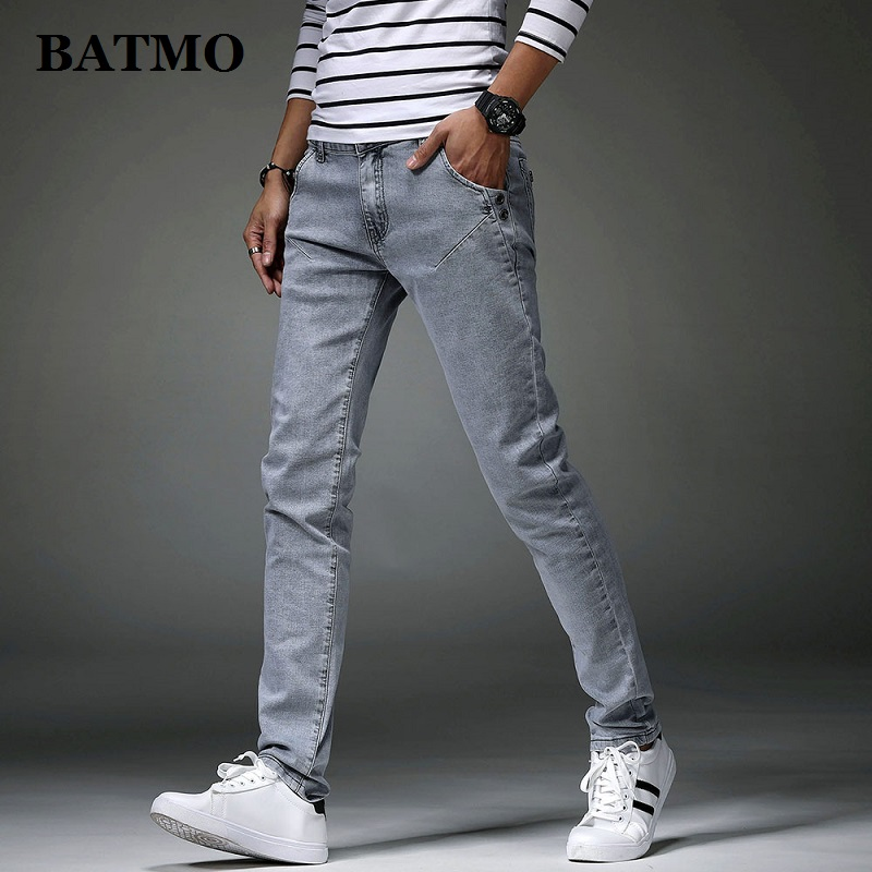 Batmo 2019 New Arrival High Quality Casual Slim Grey Jeans Men ,men's Pencil Pants ,skinny Jeans Men 8914