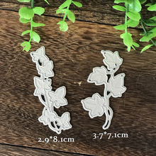 2Pcs Leaves Set Metal Cutting Dies Stencil DIY Scrapbooking Photo Album Decor Embossing Paper Cards Making Crafts Template