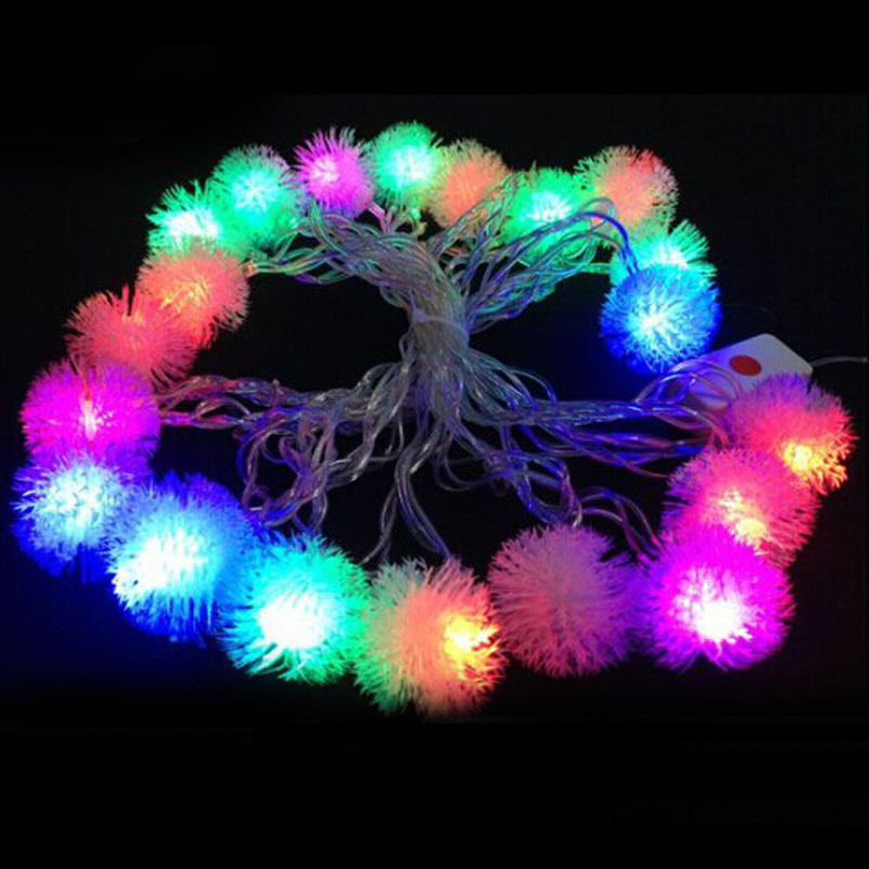4M led string light Waterproof EU plug AC110V 220V fairy lights for Xmas/New Year 20leds ball garland outdoor lighting