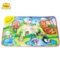 YIQU Animal Park Baby Crawling Musical Mat Kids Play Mat Baby Blanket mat for children Children's toys alfombras 72*48cm