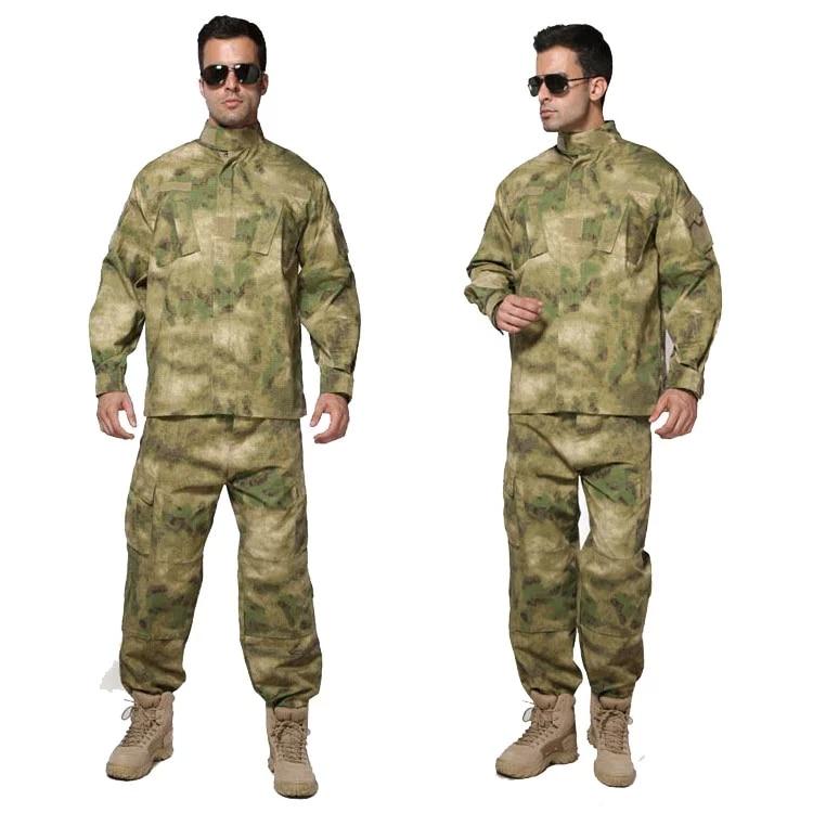 ATACS AU Camouflage suit sets Army Military uniform combat Airsoft uniform jacket pants Army Hunting uniform 2017 camouflage suit hunting clothes military uniform sets army combat frog suit airsoft tactical shirts