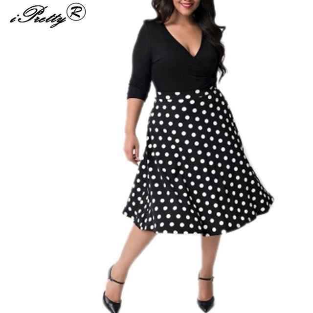 iPretty Polka Dot Pattern Vintage Robe 1950s 60s Rockabilly Swing ...