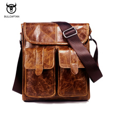 2017 New Men's Business Bag Brand 100% Genuine Leather Male Fashion Shoulder Bags Messenger Bags Briefcase