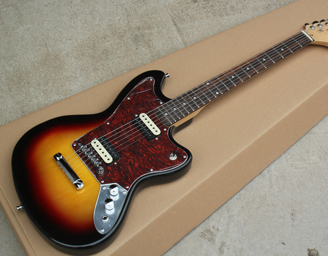 Factory Custom Tobacco Sunburst Body Electric Guitar With Red