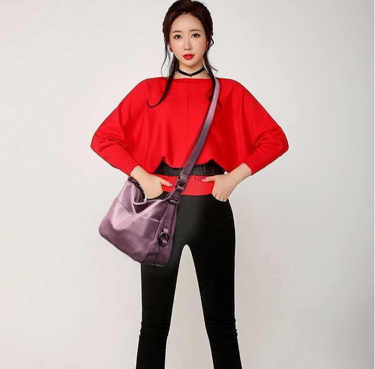 Vermelho das mulheres de couro de alta qualidade simples bolsa ombro saco sac a principal femme designer senhora mensageiro sacos transporte da gota 2019 c855