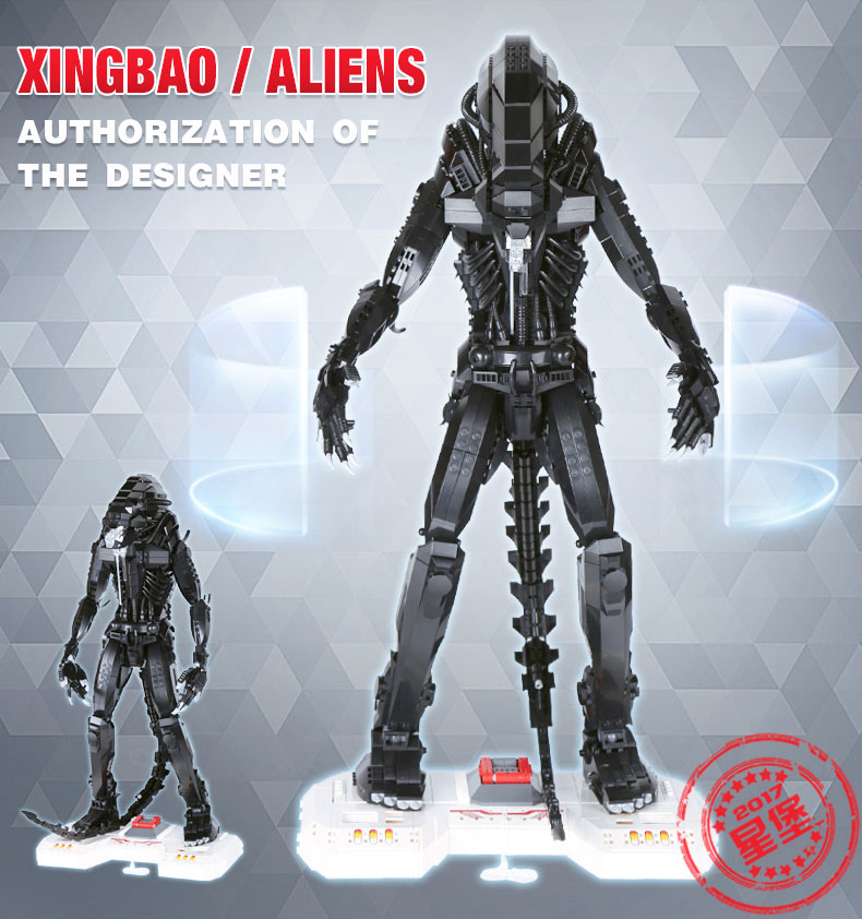 цены на New XingBao Genuine Creative Movie Series The Alien Robot Set children Educational Building Blocks Bricks Toy Model Gifts в интернет-магазинах