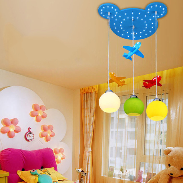 Aircraft Mickey Led Ceiling Light Child Bedroom Cartoon Living Room Home Decoration Lamp Kid S Lighting Free Shipping