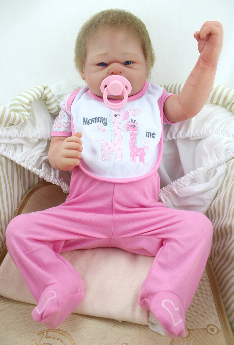 Realistic reborn baby dolls for girls toys 22 full silicone reborn doll can enter water child toy dolls gift bebe alive bonecasRealistic reborn baby dolls for girls toys 22 full silicone reborn doll can enter water child toy dolls gift bebe alive bonecas