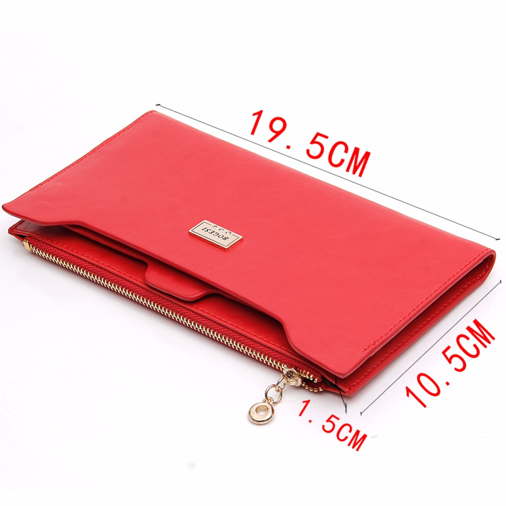 with zipper Coin Bag new 2017 women wallets brand purses female long thin wallet passport holder  ID Card Case 838