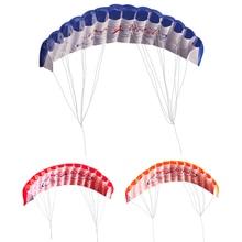 Outdoor Fun Kids Kite Dual Line Stunt Parafoil Parachute Rainbow Sports Beach Kite With Kite Handle & Line