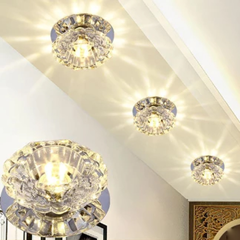 Modern led light embedded ceiling light lamp glass crystal aisle decor home fixture lighting lamp|Ceiling Lights| |  - title=