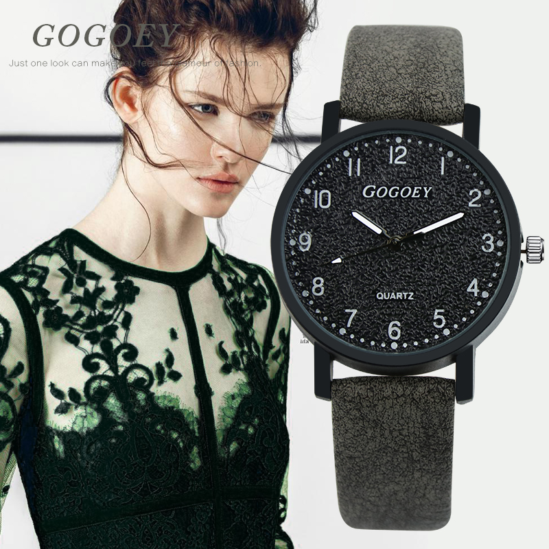 Gogoey Brand Women's Watches Fashion Leather Wrist Watch Women Watches Ladies Watch Clock Mujer Bayan Kol Saati Montre Feminino 21