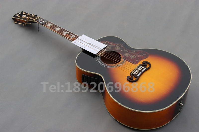 china guitar factory sell chinese vintage sunburst j200vs acoustic guitars with eq free. Black Bedroom Furniture Sets. Home Design Ideas