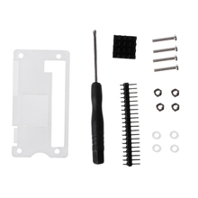 4-In-1 Acrylic Case Cover Shell + Aluminum Heat Sink + GPIO 40-Pin Connector + Screwdriver Kit For Raspberry Pi Zero
