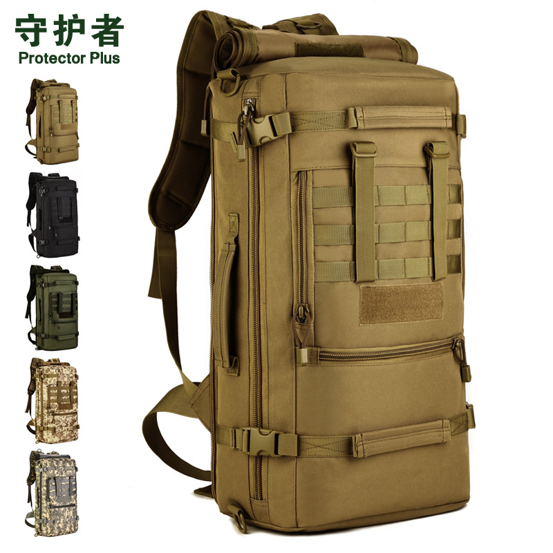 Protector Plus multi-purpose travel backpack bag high-capacity luggage mountaineering backpack outside  male oblique satchel 50L motorcycle tank bag helmet travel tool tail luggage waterproof multi riding tribe