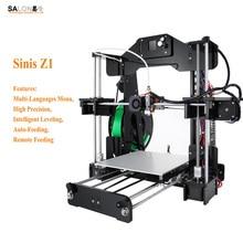Sinis Z1 Durable Structure 3d Home Printer Intelligent Leveling Multi language Menu Stampante 3d Alta Precisione