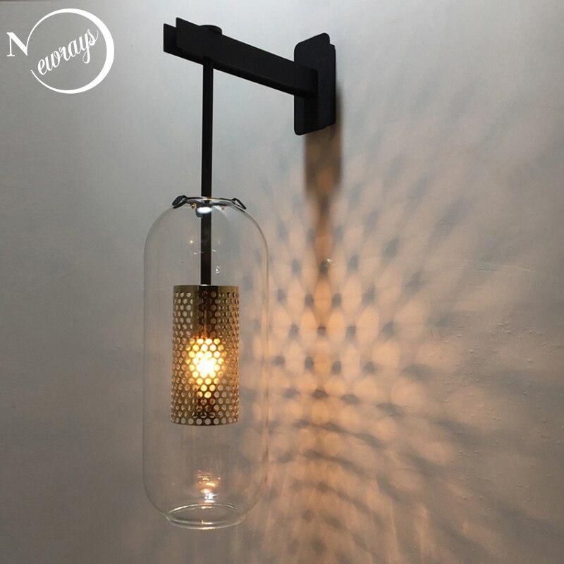 Retro Industrial E14 220V Metal Net Shade Wall Lamp For Kitchen Living Room Bedroom Bedside Restaurant Aisle Corridor Wall Light