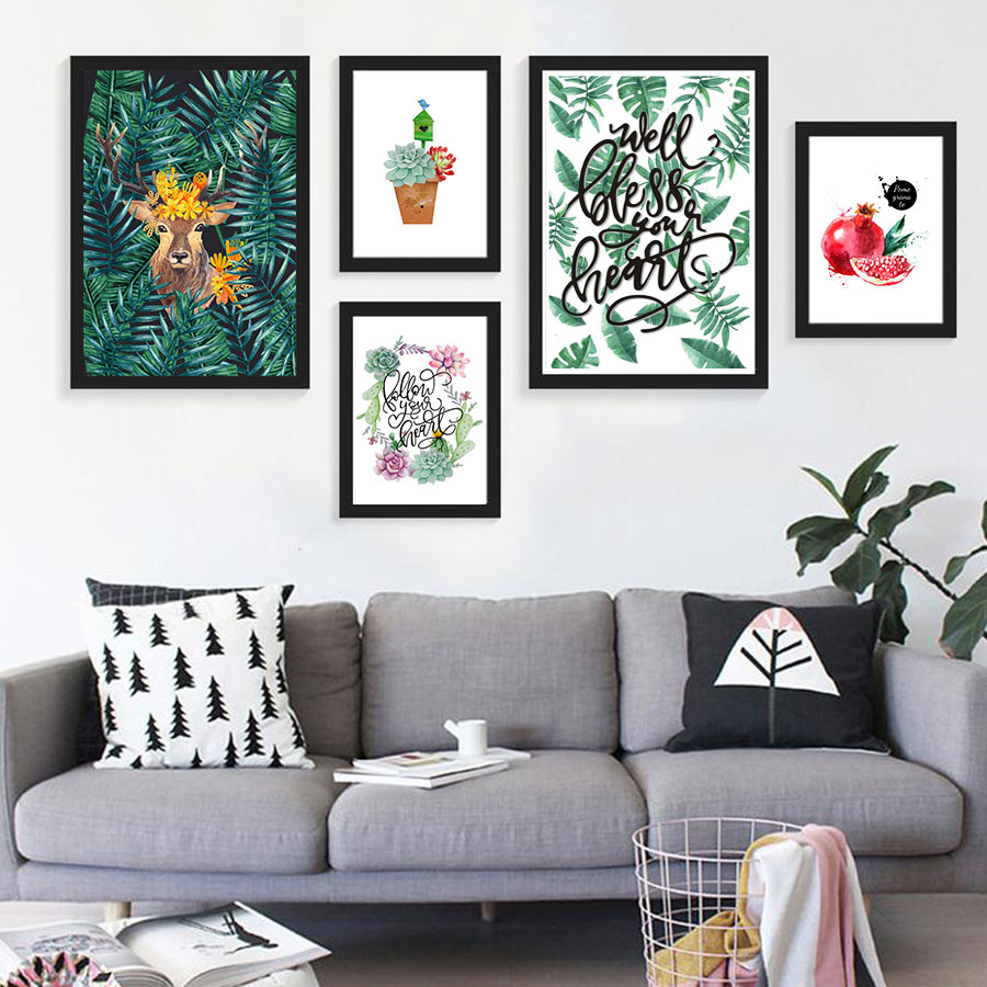 Nordic Style Modular Wall Art Poster Print Watercolor