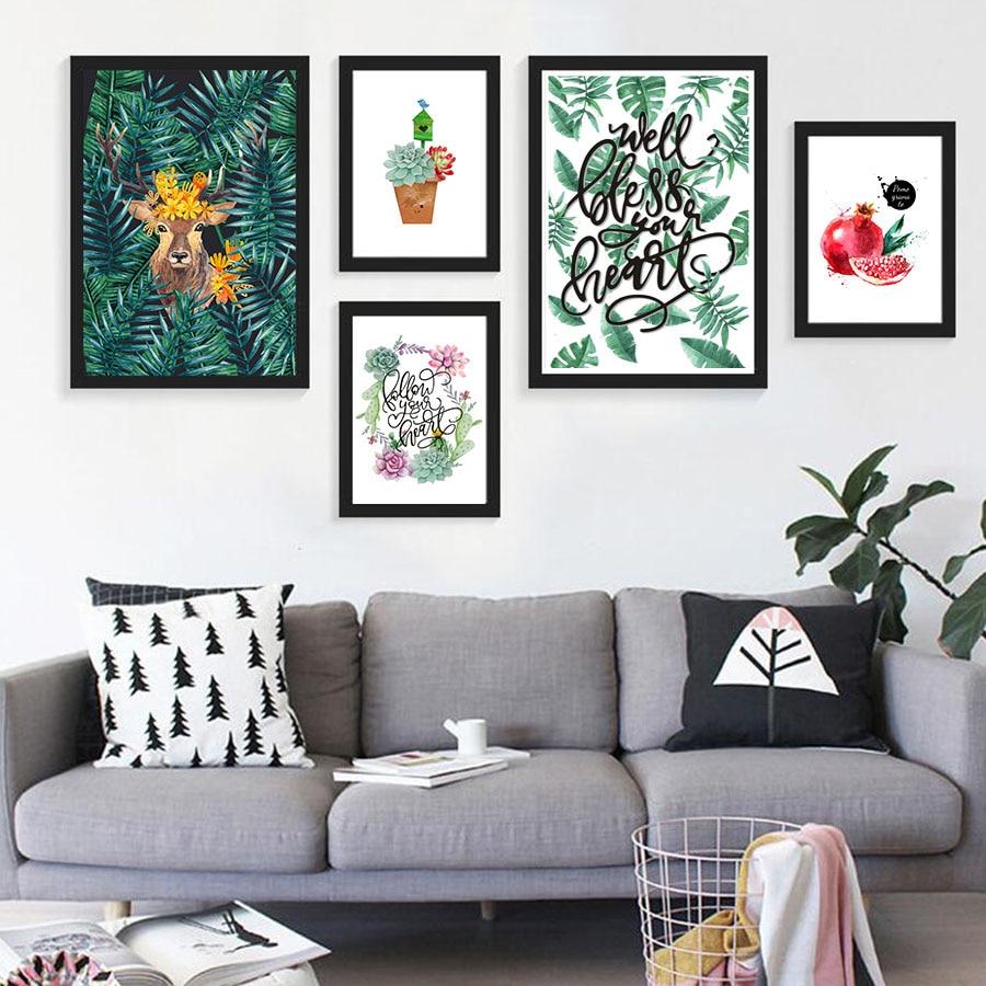 Nordic Style Modular Wall Art Poster Print Watercolor
