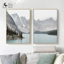 CREATE&RECREATE Nordic Poster Landscape Mountain Lake Posters And Prints Wall Canvas Paintings Decoration Pictures CR1810105018
