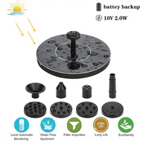 7V Solar Fountain Watering Kit 190L/H Power Solar Pool Pond Submersible Waterfall Water Pump