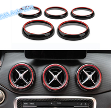 цена на Lapetus Car Styling Dashboard Side + Middle Ring Cover Trim Fit For Mercedes Benz GLA CLA W176 X156 220 260 X156 2015 - 2018