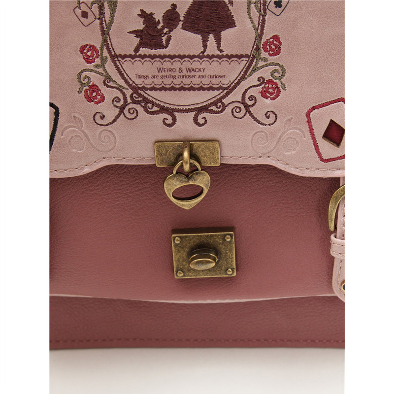 Image 5 - Alice In Wonderland Shoulder Bags axes femme vintage student 