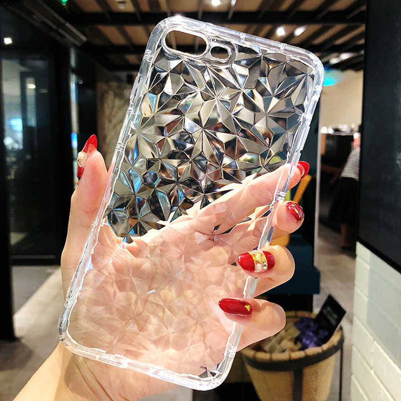 YUETUO  luxury tpu diamond Pattern phone back etui,coque,cover,case for huawei Y9 2018 y9 2019 y 9 silicone accessories