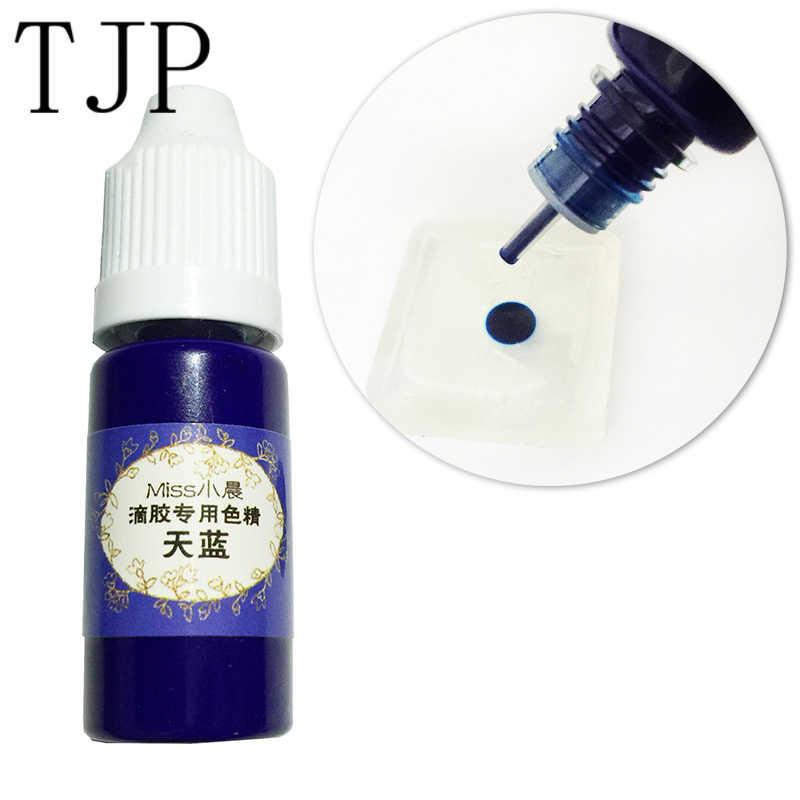 24 Warna 10 Ml Liquid Resin Pigmen Dye UV Resin Epoxy Resin DIY Membuat Kerajinan Perhiasan Aksesoris