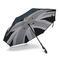 Union Jack Double Layer Reverse Umbrella Windproof Folding Inverted Upside Down for Mini Cooper One JCW S Countryman Accessories