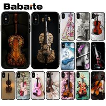 Babaite Musical instrument violin DIY Painted Phone Accessories Case for iPhone 8 7 6 6S Plus 5 5S SE XR X XS MAX Coque Shell