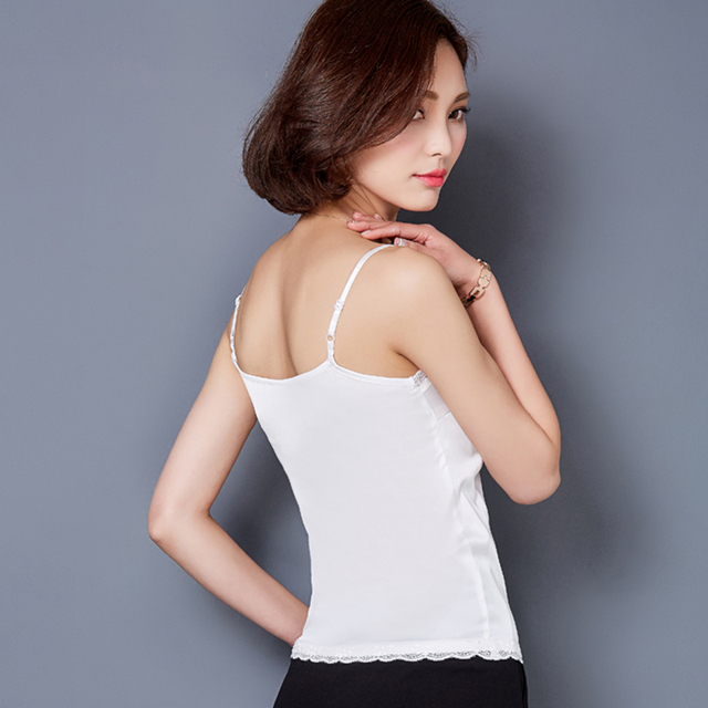 Plain Black Tank Top Womens
