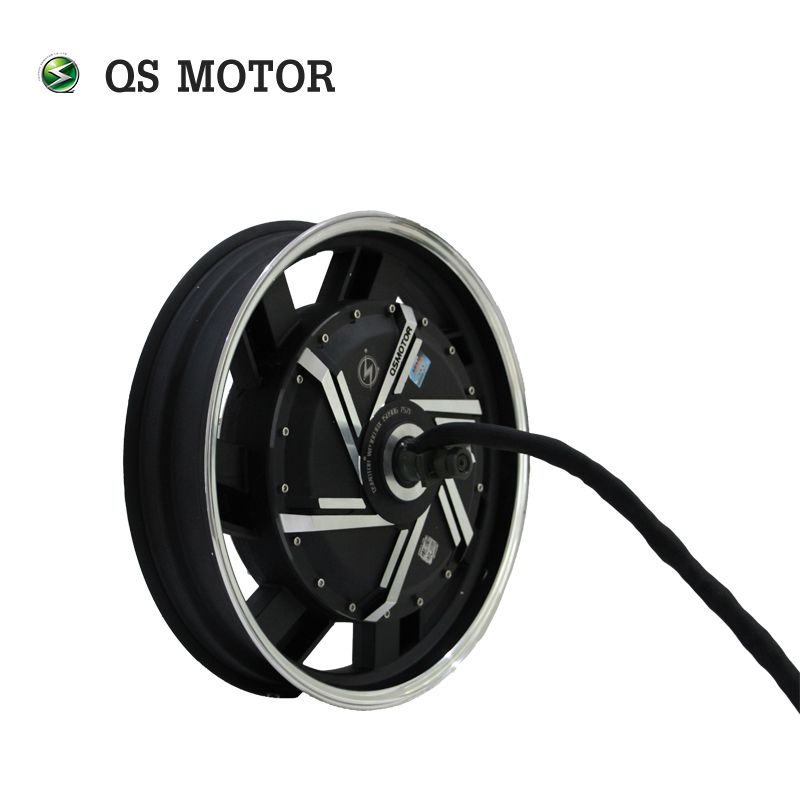 QS 17*3.5inch 8000W 273 50H V3  Brushless Electric Scooter Hub Motor For Motorcycle With Controller Speedometer Kits